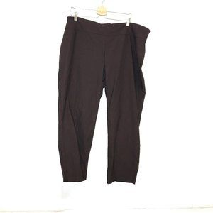 Charter Club classic fit brown stretch trousers 22